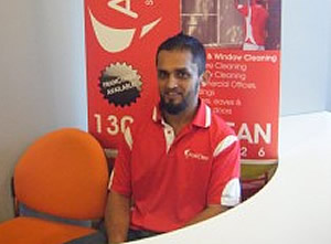 Saajid Khan from AustClean cleaning services
