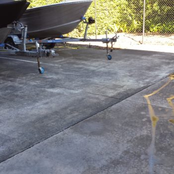 Before boat parking cleaning