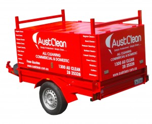 AustClean cleaning service mobile trailer