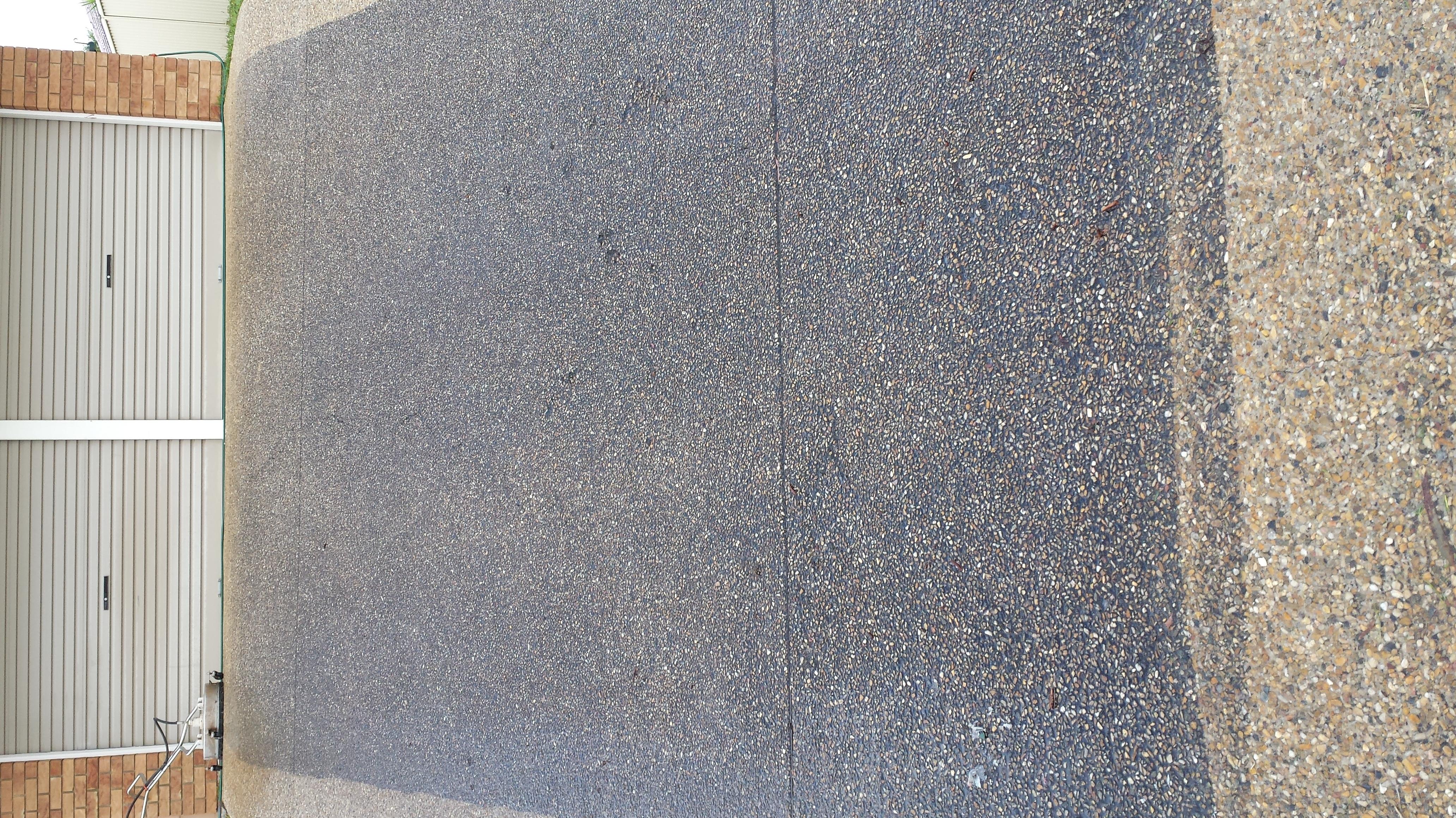 Before Sunshine Coast driveway cleaning