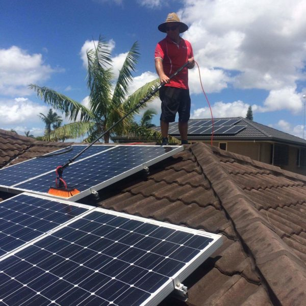Solar panel cleaning services Queensland