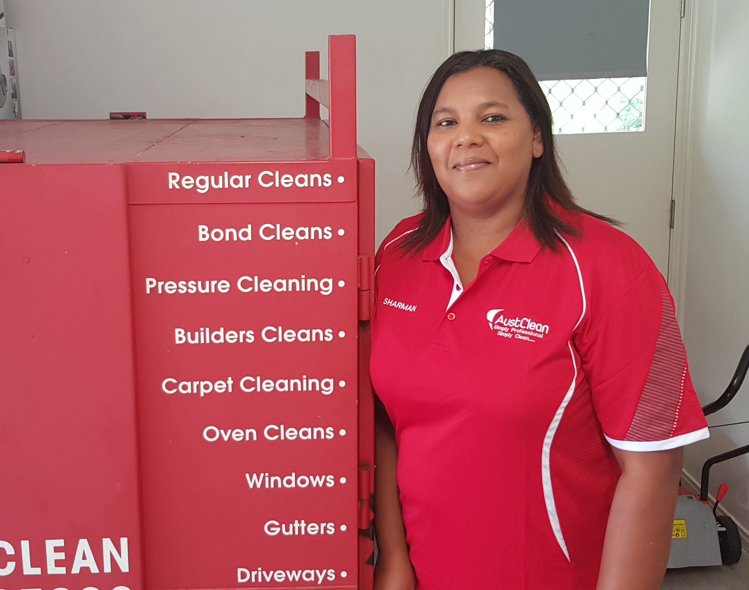 Sharman Davids from Austclean Cleaning services