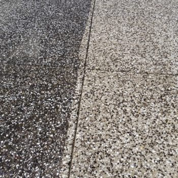Before and after driveway cleaning services