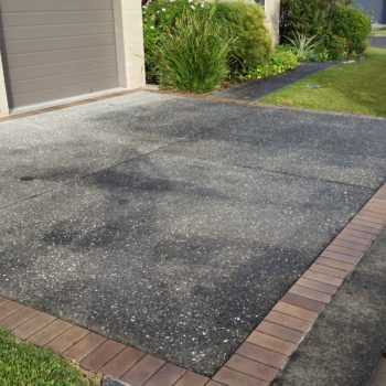 Before Driveway cleaning services
